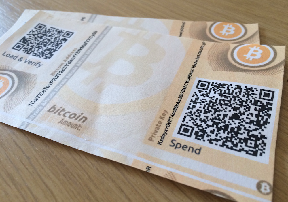 Paper Bitcoin Wallets