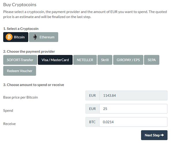 BitPanda Payment Methods