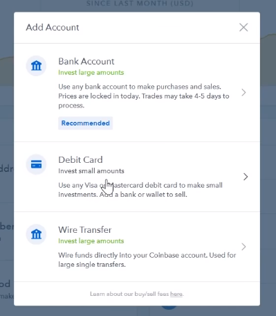 Add Debit Card as Payment Method on Coinbase
